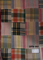 Madras Check Patchwork handmade pure fabrics For Pant