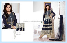 MADHUBALA BLUE GEORGETTE ON NET ANARKALI SUIT