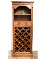 Country style wine cabinet 18 bottles