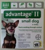 Advantage II For Ticks, fleas and Pest Control For small Dogs 5-22lbs