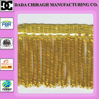 CHURCH VESTMENT GOLD BULLION WIRE FRINGE CHURCH SUPPLY BULLION FRINGE METALLIC FRINGE