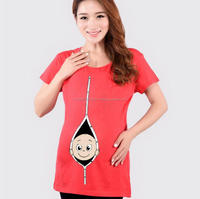 sleeveless maternity t shirts - pregnancy clothing - Women maternity
