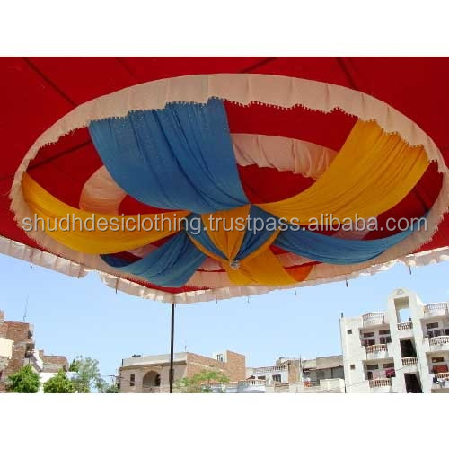 Indian Traditional Theme Wedding Mandap Tent Ceilings Draping