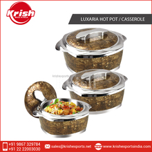 New design Plastic insulated Casserole, luxaria hot pot from India