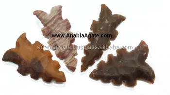 Agate Arrowheads With Curve : Neolithic Illinois Eccentric Flint Agate Arrowheads