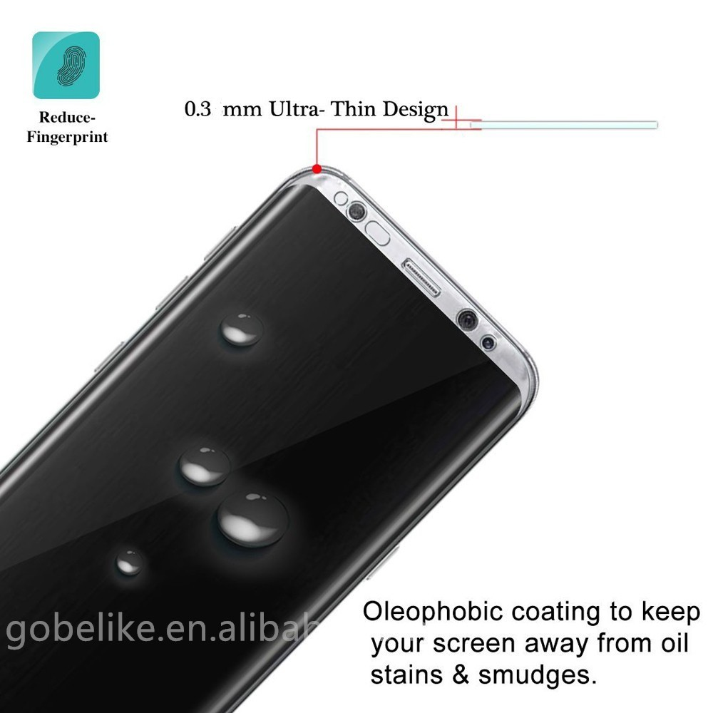 Newest full cover privacy tempered glass screen protector for Samsung Galaxy S8 / S8 Plus