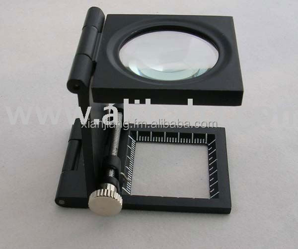 Linen Tester with metal frame and optical glass lens