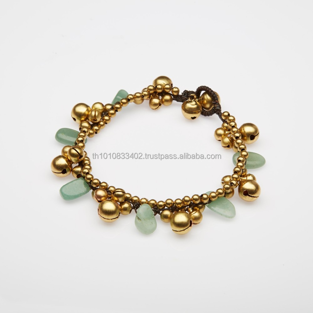 Anklet Brass and Stone Beads
