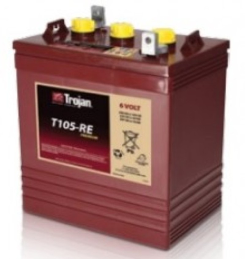 TROJAN BATTERY T105RE 6V 225 Ah @ 20 Hr. 10 YEAR BATTERY LIFE DESIGN