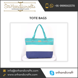 Stripe Canvas Beach Tote Bag from Popular Brand