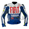 Fiat Blue Motorbike Racing Leather Jacket - High Quality, 100% Cowhide Leather