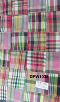 european madras cotton patchwork handmade pure fabric