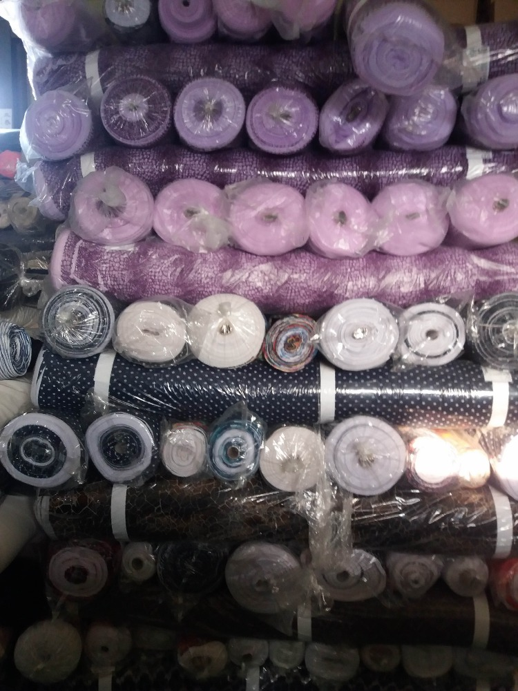 MADE IN KOREA STOCK LOT MIXED FABRIC polyester woven fabric