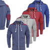 Heather Grey Custom Zipper Fleece Hoodies Hoody Jackets with Shoulder Patches