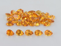Wholesale Loose Pear Shape 4x6mm Natural Yellow Topaz Gemstone Price