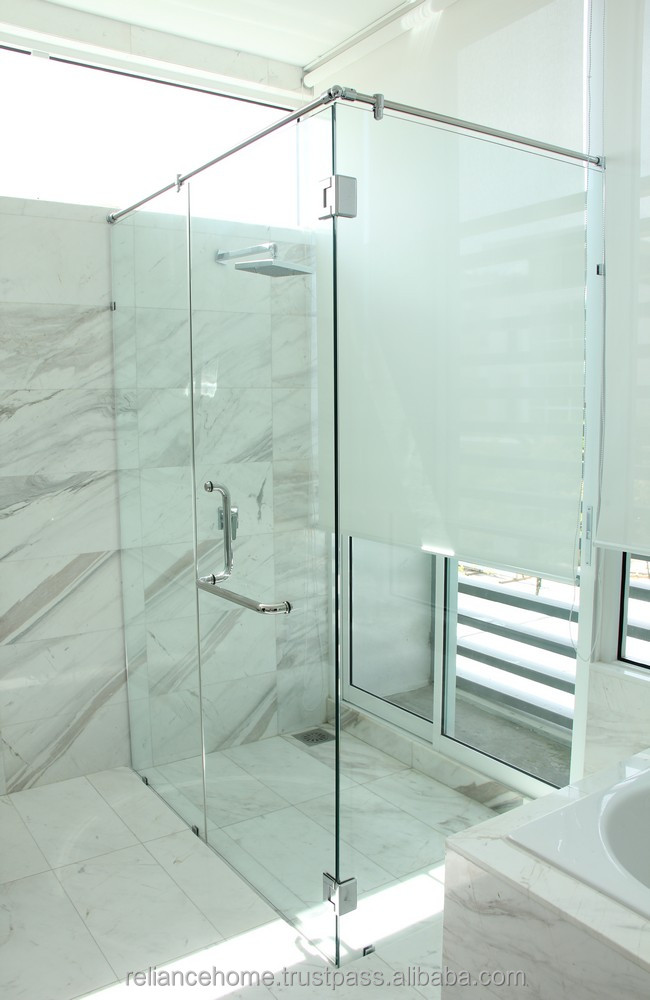 Reliance Home REH 400 L Shape shower series for corner entry design.shower screen door