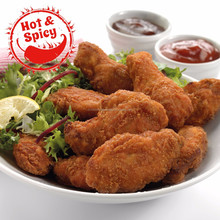 Halal Frozen Hot and Spicy Chicken Wings (Breaded)