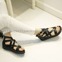H_Summer women sandals top quality gold colored ladies fancy flat sandal