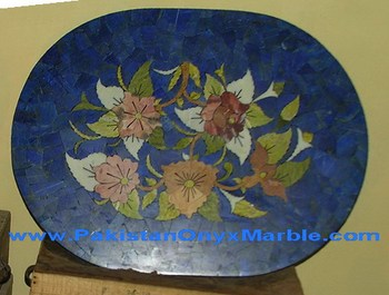 CARVED LAPIS LAZULI TABLE TOPS HANDICRAFTS