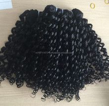 New style kinky curly weave 100% brazilian hair