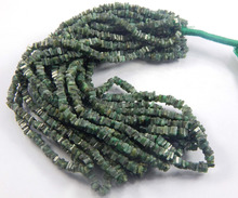 Natural dark green emerald Beads heishi Beads