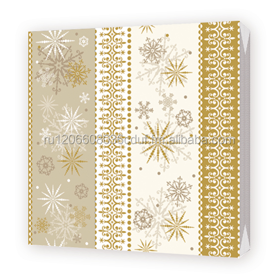 napkins snowflakes on vanilla