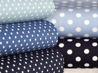 cotton single color dot print fabrics