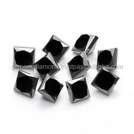 NATURAL PRINCESS CUT BLACK LOOSE DIAMONDS AT WHOLESALE PRICE