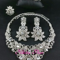 Cubic Zirconia Combo Necklace Set