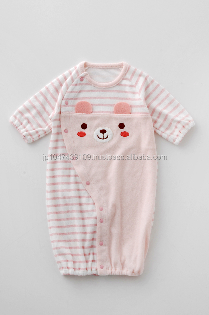 Japanese wholesale high quality infant wear clothing toddler long sleeve baby newborns clothes one piece coverall animal pattern