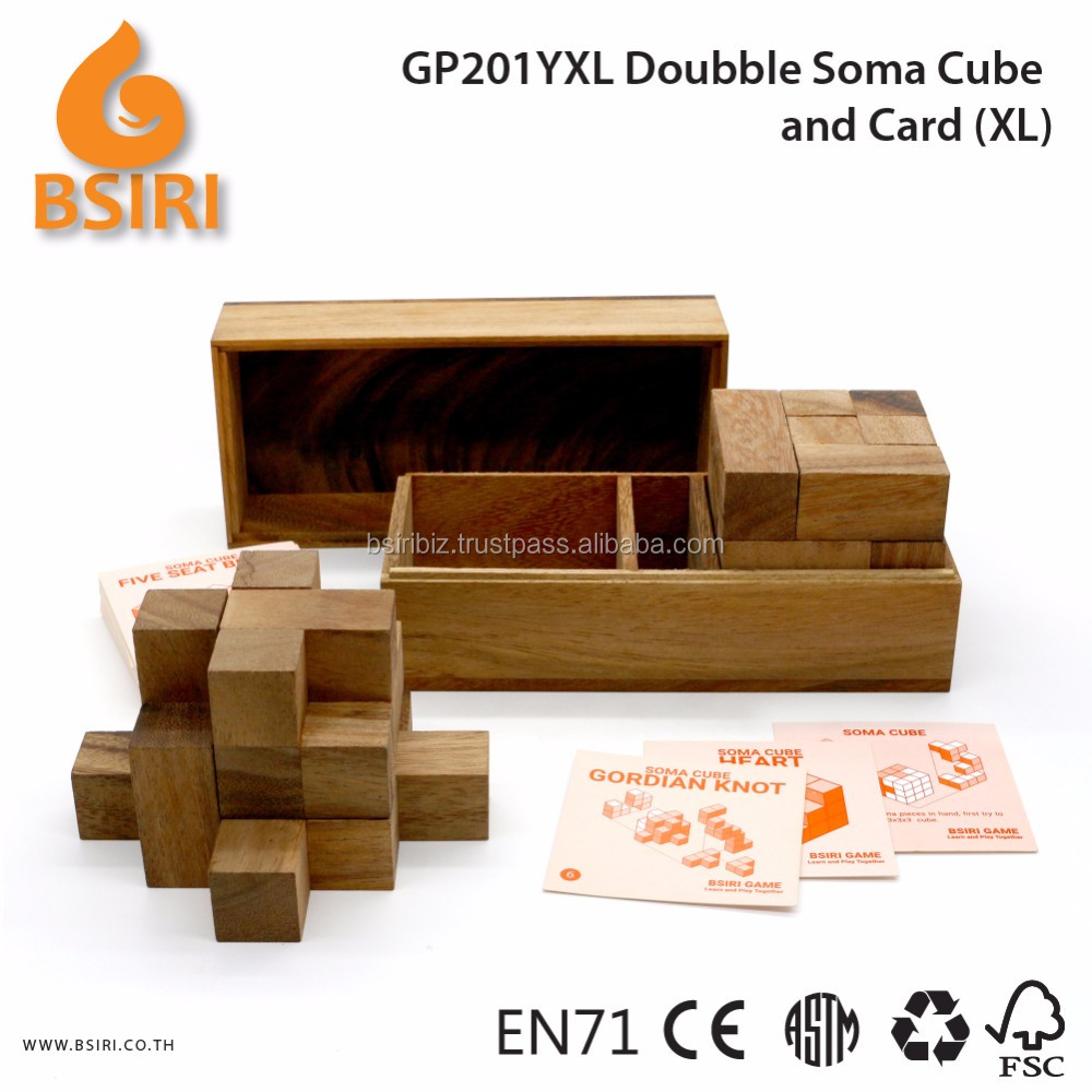 Doubble Soma Build and Card Wooden Educational Games
