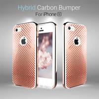 01315 For iPhone 5/5S/SE_Sinabro Hybrid Carbon Bumper_Smart Cellular Mobile Phone Case Cover Casing