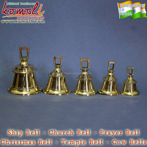 Shining custom design metal brass church ship temple bell