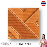 glazed 30*30 cm new red pink brown tan wood pattern design Thai porcelain interior tile and tile from Thailand