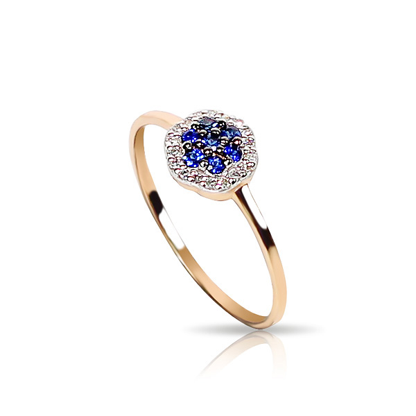 14k Gold Ring with Diamond And Sapphire Latest Wedding Ring Designs