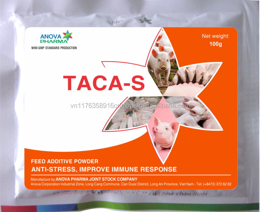 TACA S - Veterinary medicine - Supply vitamins, minerals and electrolytes for Swine