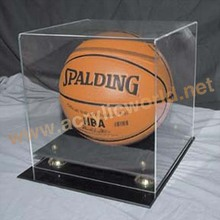 Cube Basketball Display Box/Custom Types Clear Acrylic Basketball Merchandising Display Box
