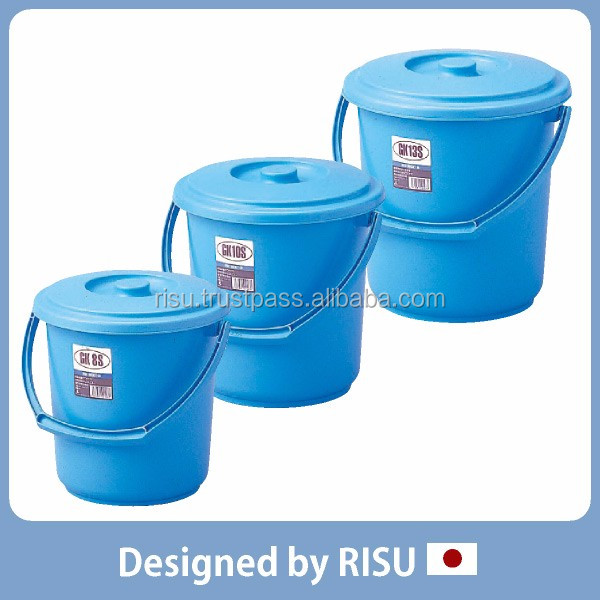 Various storage case plastic bucket with handle for home & commercial use with various sizes