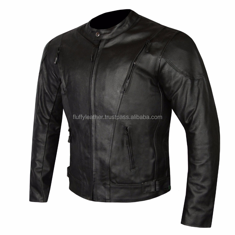 Men New Leather Jacket HIGHLY VENTILATED MOTORCYCLE LEATHER CRUISER ARMOR TOURING JACKET FOR MEN--FL-2196
