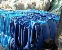 HDPE Blue drum baled scrap