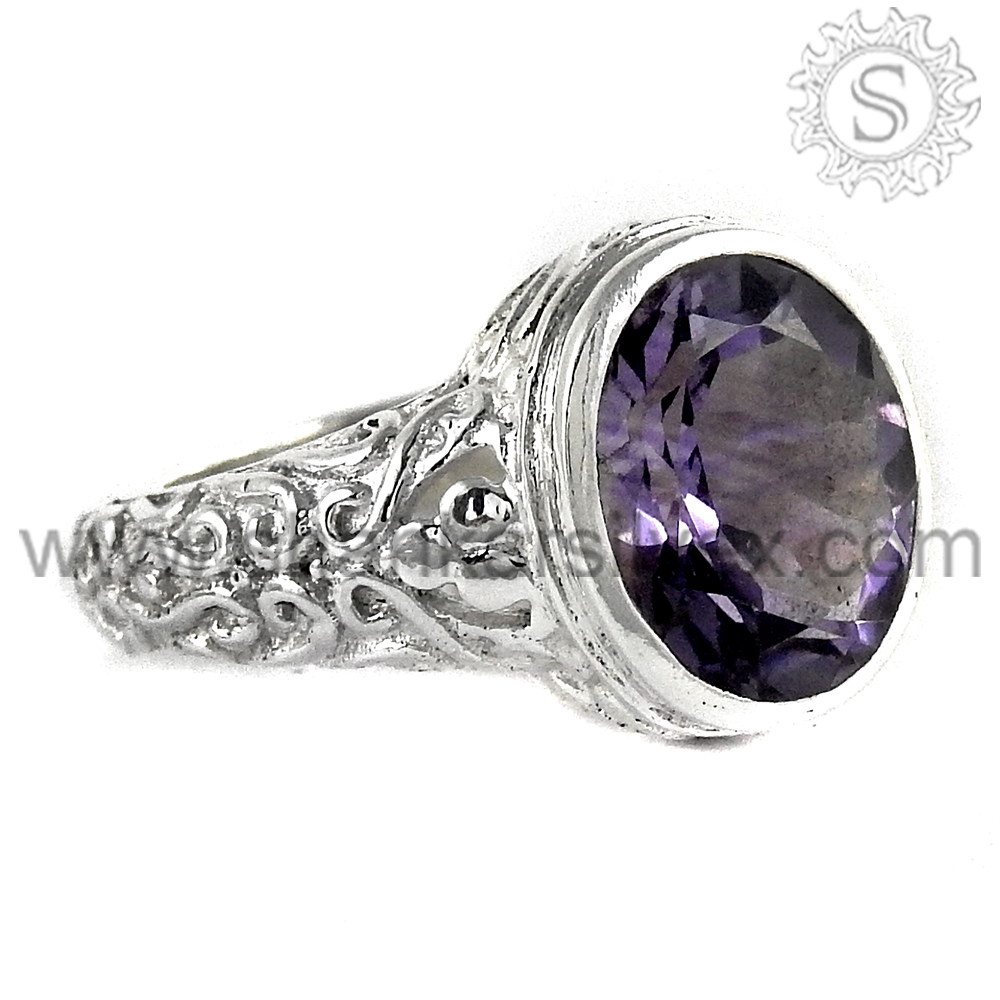 Exceptional fine silver jewelry amethyst gemstone ring 925 sterling silver ring handmade silver ring jewelry wholesale