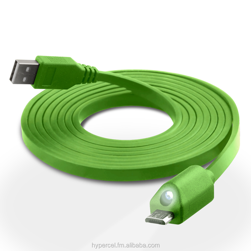 Naztech LED Micro USB Charge Sync Cable 6ft Green