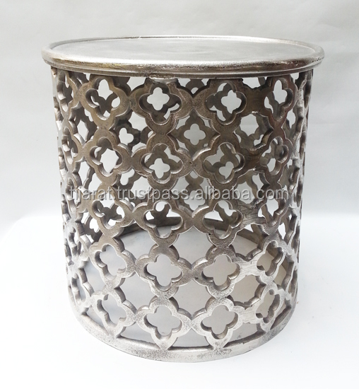 Ottomans Aluminium Stool Metal Side