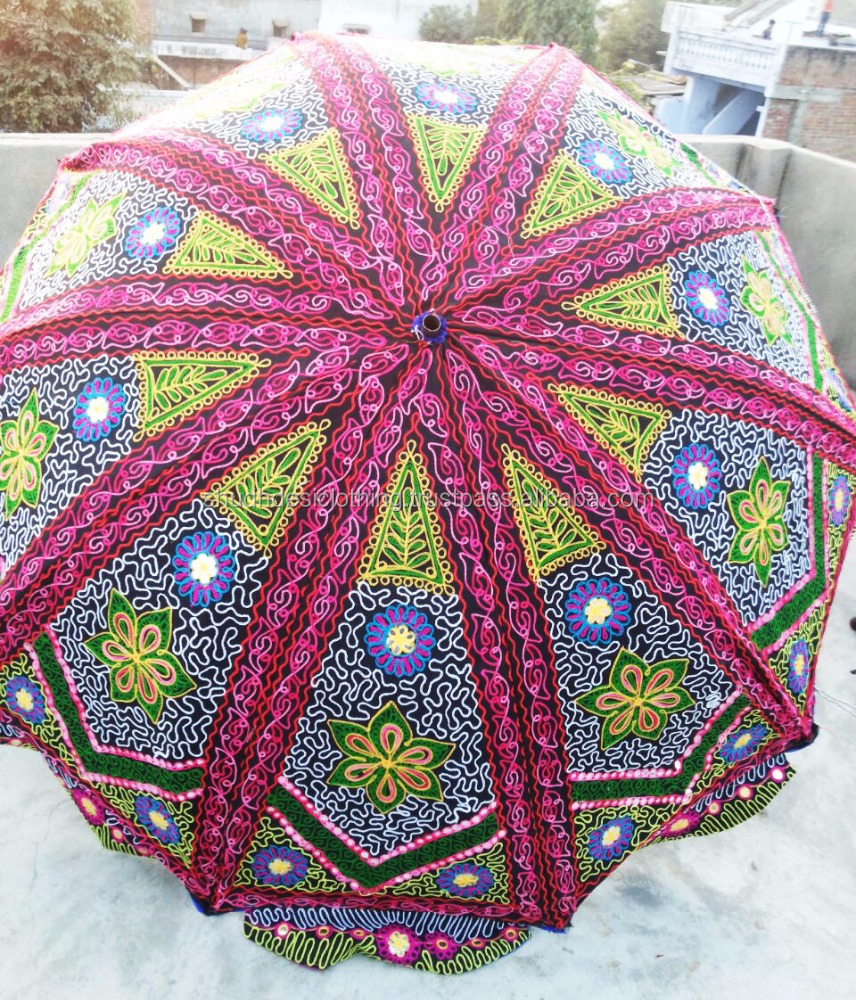 Indian Traditional Royal Heritage Art Work Design Garden Umbrella For Home Gardens / Roof