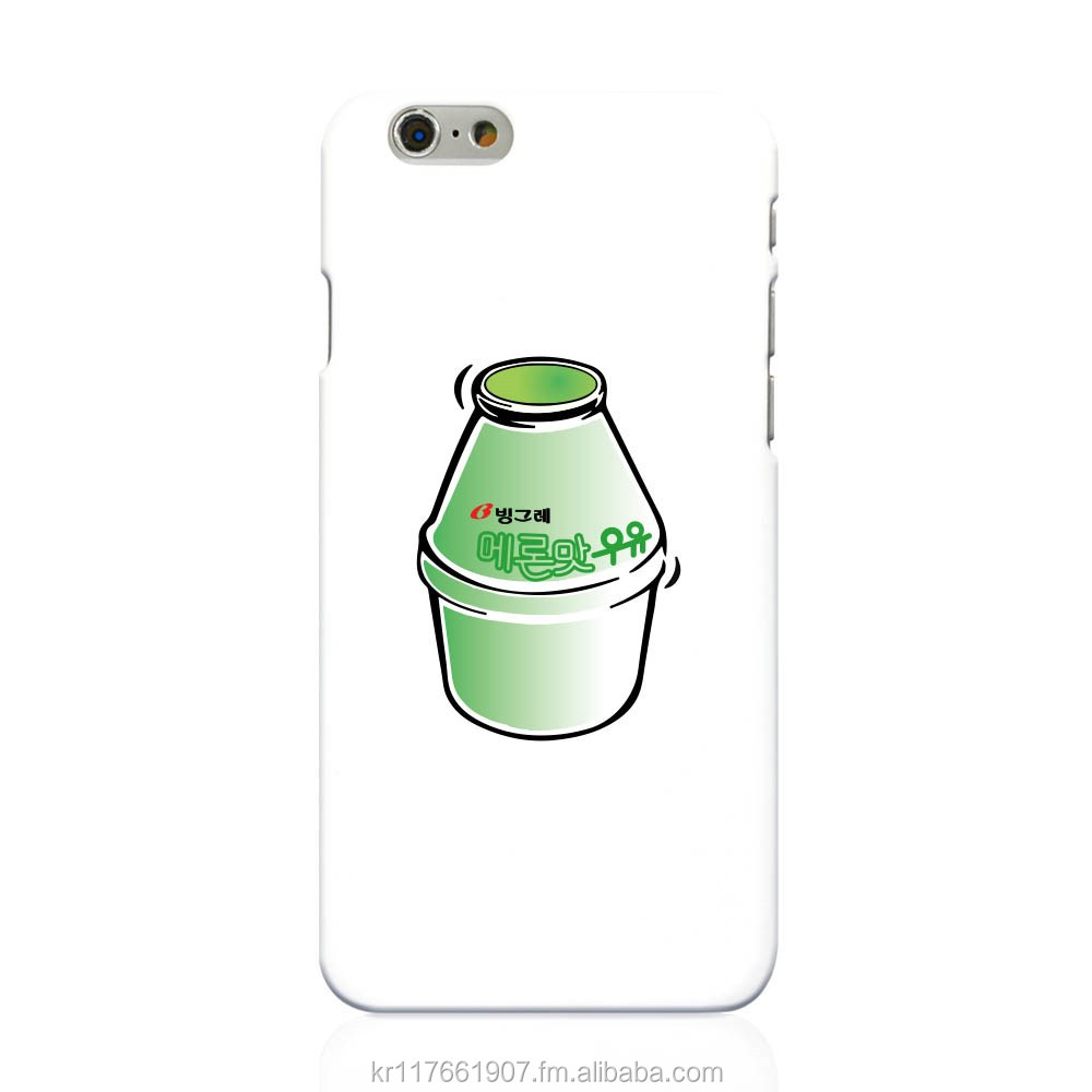 2016 korea best seller cute banana milk pattern design phone case