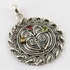 Best Deal Today !! Multi Color Stone 925 Sterling Silver Pendant, Pendants From India, Bohomian Silver Jewelry