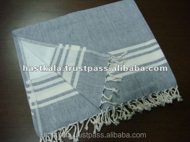 Azo Free & Color Fast 100% Cotton Woven Fouta Bath Towel for Promotion Sale & Retail Sale