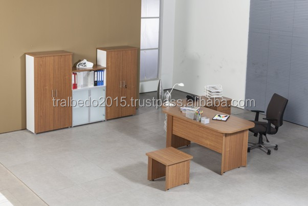 Comfortable office desk / Melamine office desk / Table + Etagere + Caisson + Coffee Table