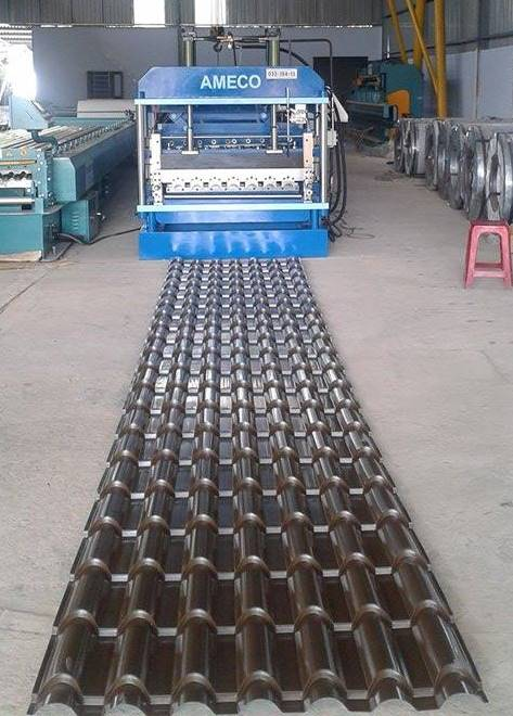 METEPCO Step Tile Roofing Roll Forming Machine