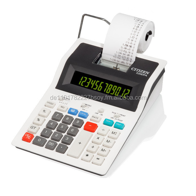 520DPA, Citizen Mini thermo printer Calculator with 2-color display, new and original